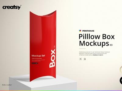 Pillow Box Mockup Set (03)