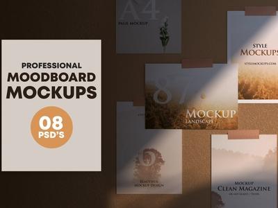 Set of Mood Board Mockups