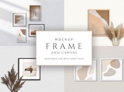 Frame and Canvas Mockup Set