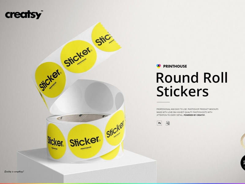 Sticker Mockup Designs Themes Templates And Downloadable Graphic