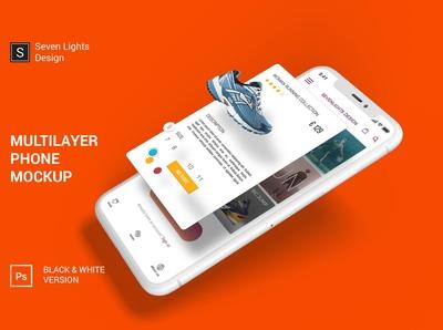 iPhone X Multilayer Mockup Set