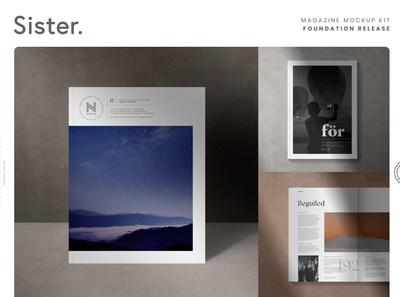 Sister. Magazine Mockup Kit