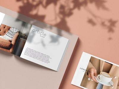 A4 Landscape Magazine Mock-Ups
