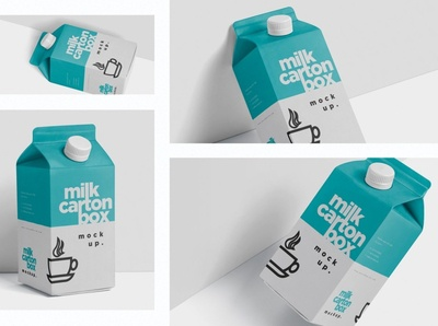 Juice - Milk Mockup - 500ml Carton