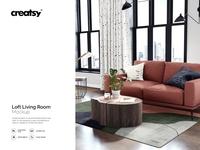 Loft Living Room Mockup Set