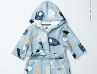 Baby Bath Dressing Gown Mockup Set