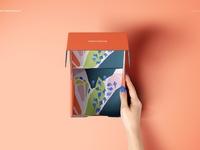 Front Tuck Mailer Box Mockup Set 01