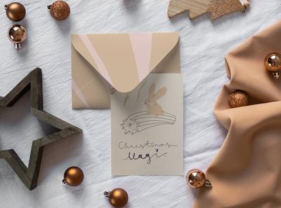 Christmas Postcard Mock-Ups