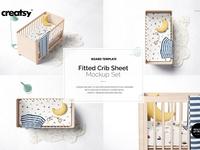 Fitted Crib Sheet + Adds Mockup Set