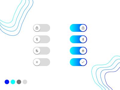 Gradient Toggles graphics designer graphic design blue white gradients icons toggle toggle switch uiux ui gradient toggles figma photoshop illustrator minimal