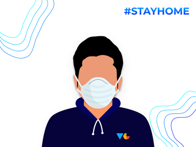Stay Home figma staysafe covid19 workfromhome wfh stayhome vector illustration identity logo photoshop illustrator flat minimal