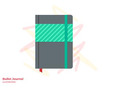 Bullet Journal Illustration bullet journal figma art vector illustration graphic design clean design illustrator flat minimal