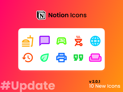 Notion Icons Update #1 figma notion minimal logo illustrator illustration icons freebies freebie flat clean