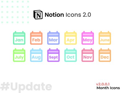 Notion Icons Update #2 ui vector icon illustration graphic design photoshop graphics designer illustrator flat minimal
