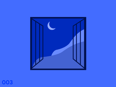 Blue Night moon sky night figma art flat graphic design design illustration clean graphics designer illustrator minimal