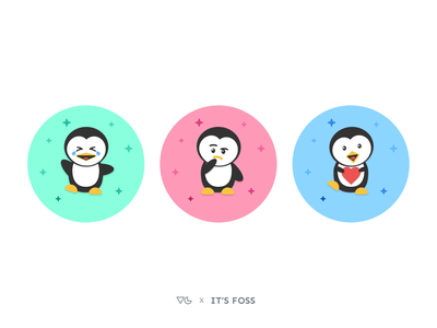 Penguin Avatars emotions emotion linux avatars avatar animals animal emojis emoji tux art identity figma vector illustration clean graphics designer illustrator flat minimal