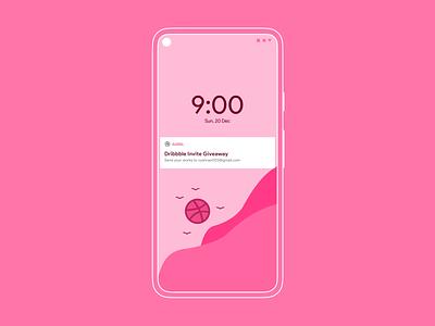 1 Dribbble Invite Giveaway ux illustrator flat minimal userinterface pixel google sun uiux dribbble invite uidesign ui pink invite giveaway