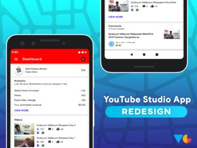 YouTube studio App Redesign