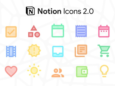 Notion Icons 2.0 freebies freebie google icons notion clean icon ui illustration logo photoshop illustrator flat minimal