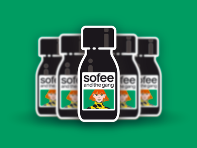 Sofee and the gang - sticker flat design ui packaging illustration barista coffee sofee specialty coffee sticker
