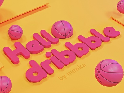 Hello world! debut debutshot hellodribble 3d illustration hello