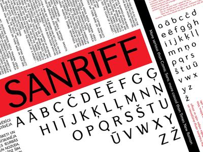 Sanriff typeface