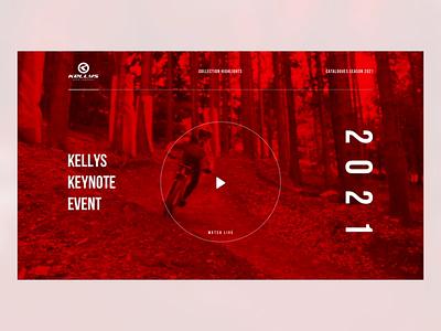 Simple Microsite red keynote play video microsite cycling bike webdesign clean luxury header