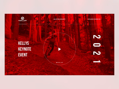 Simple Microsite red keynote play video microsite cycling bike webdesign clean luxury header