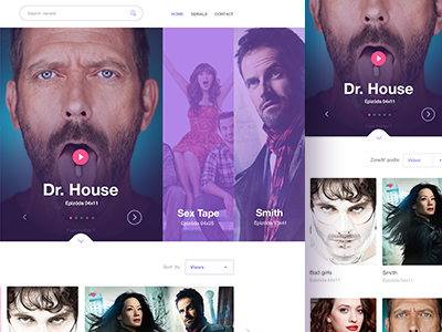 Web for online serials imdb web web design fresh layout player header movie refresh serials ui