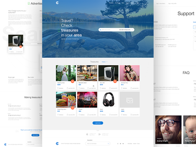 Clooger subpages web design ui app search footer product layout price sale