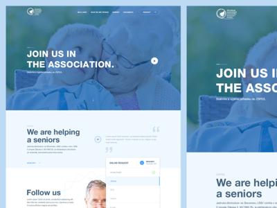 Senior web homepage slides clean form life doctor web design minimalism seniors health