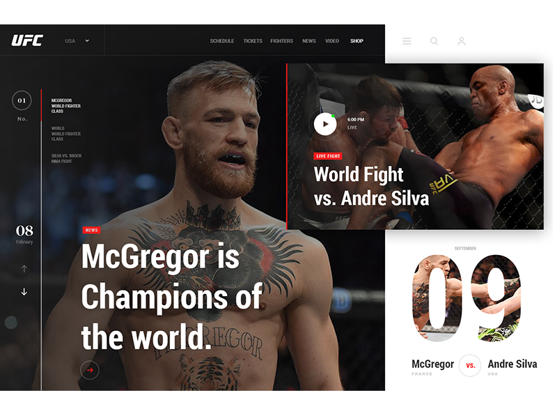 UFC creative concept box run sport live mma video luxury ufc fight blog article news