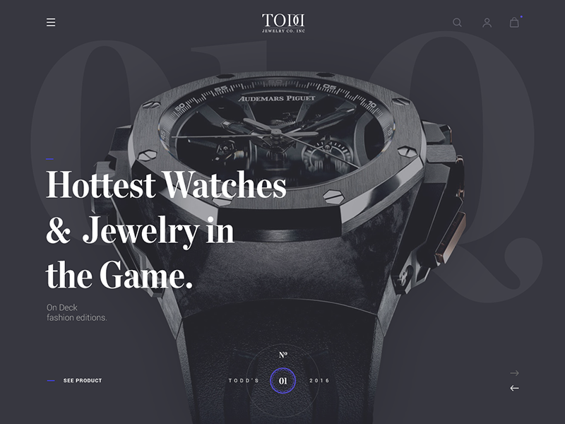 Header for luxury store store gold typography web header luxury vintage watch jewelry
