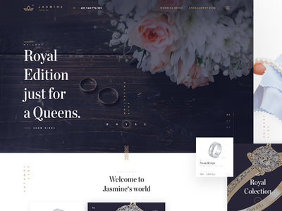 Jewelry store - web design slovakia fashion wedding shop handmade gold ring store homepage web design luxury jewelry