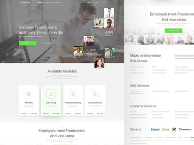 Get Lancer - homepage startup play ui header freelancer employees work