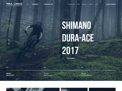 Simple Homepage Header interface cycling store moto luxury shimano biker bike sport header