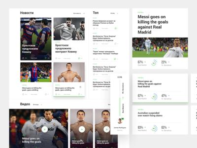 UI elements - Sport Portal clean charts analytics luxury sport header football betting ux ui