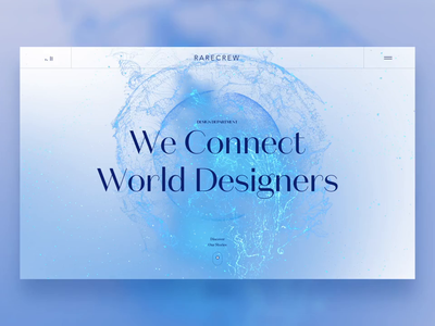 Web Animation ae particles landing page fresh clean luxury header webdesign ui motion animation