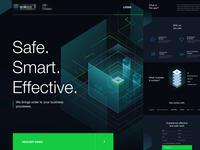 Design Concept digital web invoice finance manager illustration ux ui interface landingpage app business