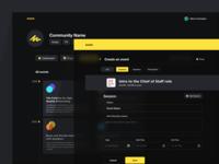event_dark mode layout responsive minimal design interface website clean web ui sketch