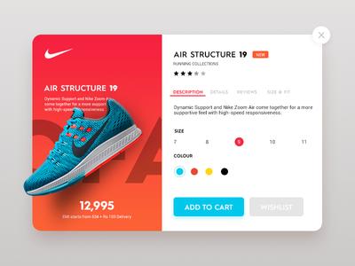 Daily UI #4 - Nike ultra store nike modern metro futuristic sketch design material website flat ui
