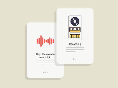 Daily UI #7 - Walkthroughs siri metro ultra record walkthroughs futuristic design cards modern flat ui sketch