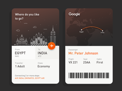 Daily UI #8 - Google Flights travelling booking eticket maximum clean idea minimal modern flights google