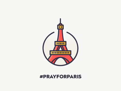 Pray for paris pray paris prayforparis love dove vector illustration eiffel tower france