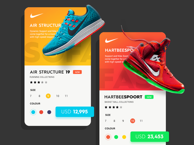 Daily UI #15 - Nike Cards