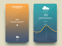 Daily UI #16 - Weather App rain popup 3d touch ios9 app design flat weather 2d abstract
