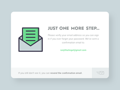 Daily UI #34 - Account Confirmation freebie psd illustration geometric confirmation envelop mail subscription success thank you responsive