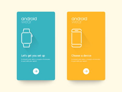 Daily UI #50 - Android Wear colour clean watch welcome screen on boarding minimal android wear google