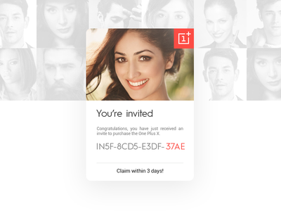 Daily UI #53 - Invite invite knob generate colour search ios9 card app minimal clean dribbble oneplus