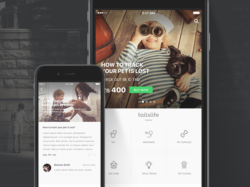 TailsLife store responsive interface ui sketch shot dribbble 100 clean love pet tails
